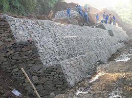 铅丝石笼网|铁丝石笼网|水利建设防洪石笼网箱挡土墙
