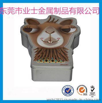 厂家定制异形动物头像罐 金属包装铁罐