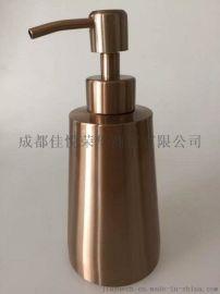 不锈钢台式洗手液瓶玫瑰金色