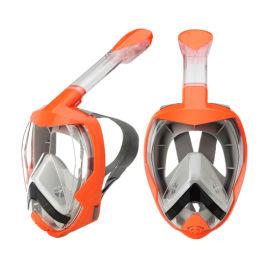 全干式自由呼吸潜水面罩折叠呼吸管浮潜面罩套装