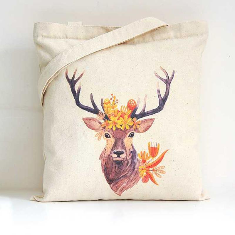 全棉環保卡通帆布袋創意棉布袋廣告購物袋可印logo