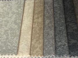 现货新款密码布加厚仿麻沙发面料 耐磨双色多丽丝麻布装饰座套布