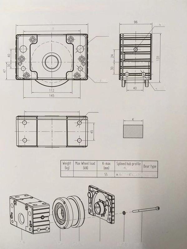 苏州DRS车轮组 德马格行走轮箱系统