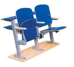 强业家具实木多层板胶合板阶梯教室板式排椅(LTY)