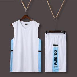 新款篮球服套装男潮定制印字宽松背心上衣速干运动学生比赛训练服