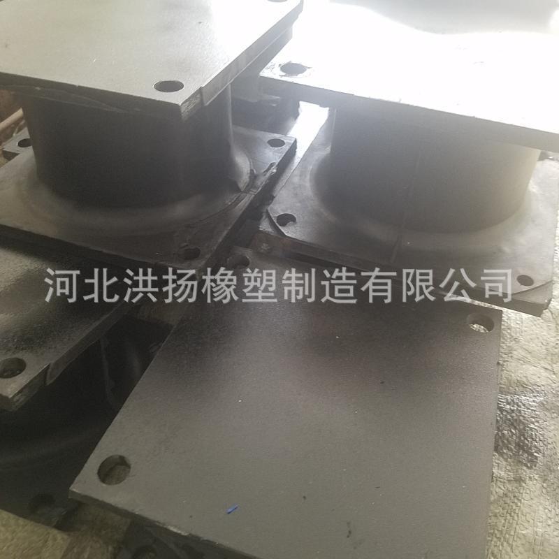 橡胶夹钢板减震座 工程机械用钢板减震器 可定做