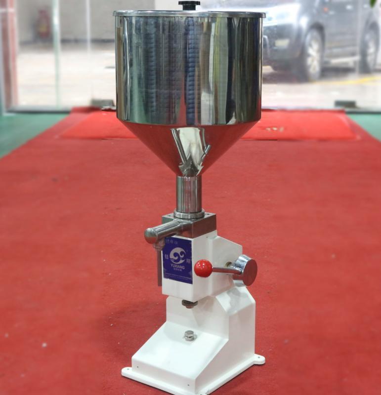 手动粘稠液体灌装机 小型单头定量豆浆灌装机 膏液体两用灌装机