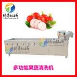 全自动不锈钢白菜气泡清洗机 橙子桔子苹果葡萄水果清洗机