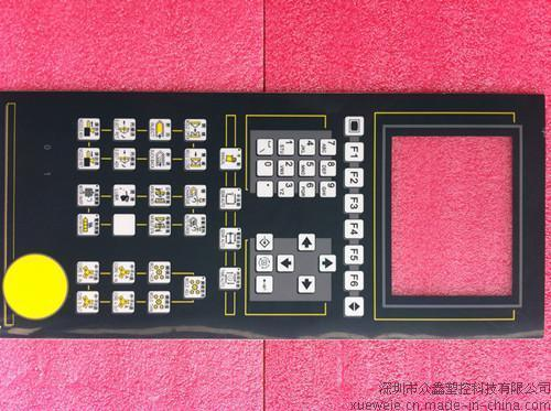 弘訊注塑機電腦貼紙,按鍵紙,貼膜(6.4寸窗口),佳明F1-F6/F1-F10電腦貼紙,貼膜,面膜紙,按鍵紙