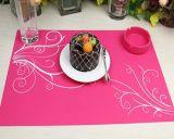 时尚粉色硅胶防烫餐垫
