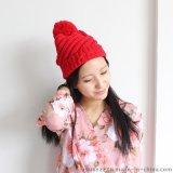 韓版潮冬季大毛線球毛線針織帽【金娟針織】