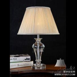 蒂孚尼美式奢华水晶台灯 K9水晶台灯 装饰台灯 创意时尚卧室灯