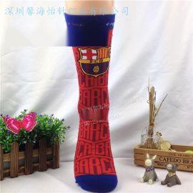 深圳袜子厂家袜子定做足球袜子FCB足球袜艺术袜球迷袜运动棉袜