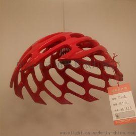 玛斯欧斜边草帽半球树脂玻璃吊灯CE认证环保E27可替换LED节能球泡灯头MS-P1028