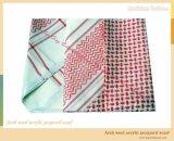 阿拉伯毛腈提花头巾 Arab wool acrylic jacquard scarf