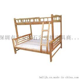 厂价批发松木家具 中式实木床 松木儿童上下床 子母床高低床