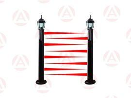 六光束100米红外光墙ABL100-1206L, 艾礼富电子红外幕墙, 红外光墙