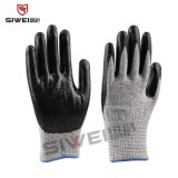 厂家批发 高强高模分子量聚乙烯纤维浸丁晴涂层五级防割手套