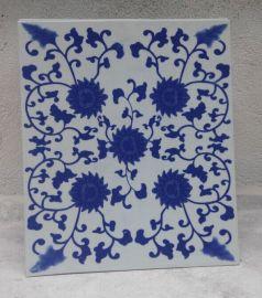 万业陶瓷生产贴花青花瓷瓷板画瓷片