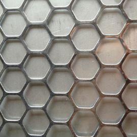 厂家生产不锈钢冲孔网 六角筛网304冲孔板 不锈钢多孔板加工