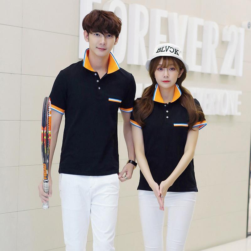 夏季男式短袖T恤韩版 青年修身短袖男装休闲polo衫纯棉可定制LOGO