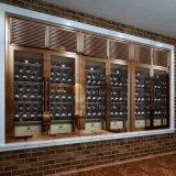 高端定制豪华钛金不锈钢酒柜 不锈钢酒架 恒温酒柜 雪茄柜 珠宝柜