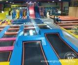內蒙古1500㎡蹦牀公園 旱雪滑梯成人蹦牀 室內兒童樂園遊樂設備