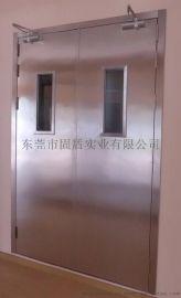 江苏固盾的玫瑰金镜面不锈钢大玻璃门防火门终身有偿保修服务