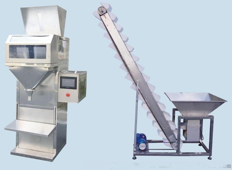 半自動稱重顆粒灌裝機 半自動定量顆粒包裝機