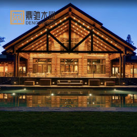 预装配房屋 木制农村自建房组装可移动芬兰木屋
