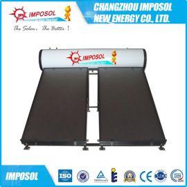 出口品質一體承壓太陽能平板熱水器廠家直銷三高管/紫金管