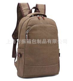 工厂定制 帆布双肩背包 电脑包 旅行包 休闲韩版潮 可加logo