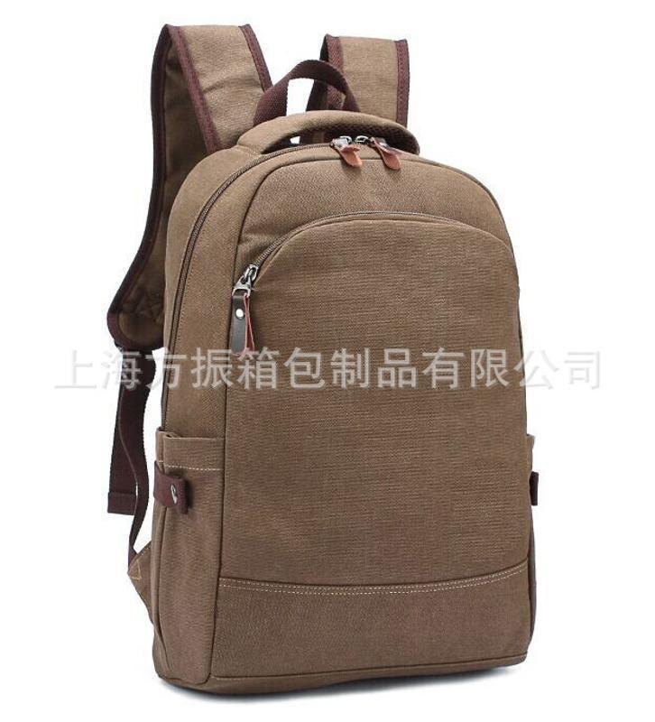 工廠定製 帆布雙肩揹包 電腦包 旅行包 休閒韓版潮 可加logo