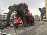 庆典暖场巡游互动机械大象出租机械大象黄金狮租赁