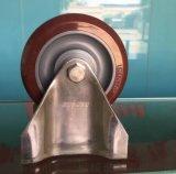 4寸PU轮2系列4寸不锈钢定向聚氨酯脚轮 厂家直销