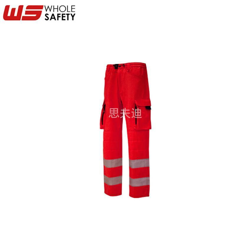 高可视防护裤 反光防寒保暖裤 阻燃防水防静电反光晶格带裤子定制
