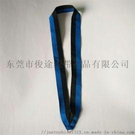 俊途织带厂家销售带仿金C圈的间色涤纶奖牌带