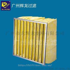 辉龙HL filter,ZD袋式初效空气过滤器,效率F5/F6/F7/F8/F9,铝合金或镀锌外框,熔喷超细合成纤维滤料