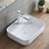 衛生間優等陶瓷檯面白色潔具簡歐臺上洗手盆