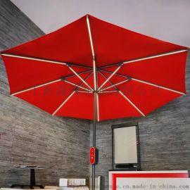 LED户外伞、太阳能发电led庭院伞、LED阳伞
