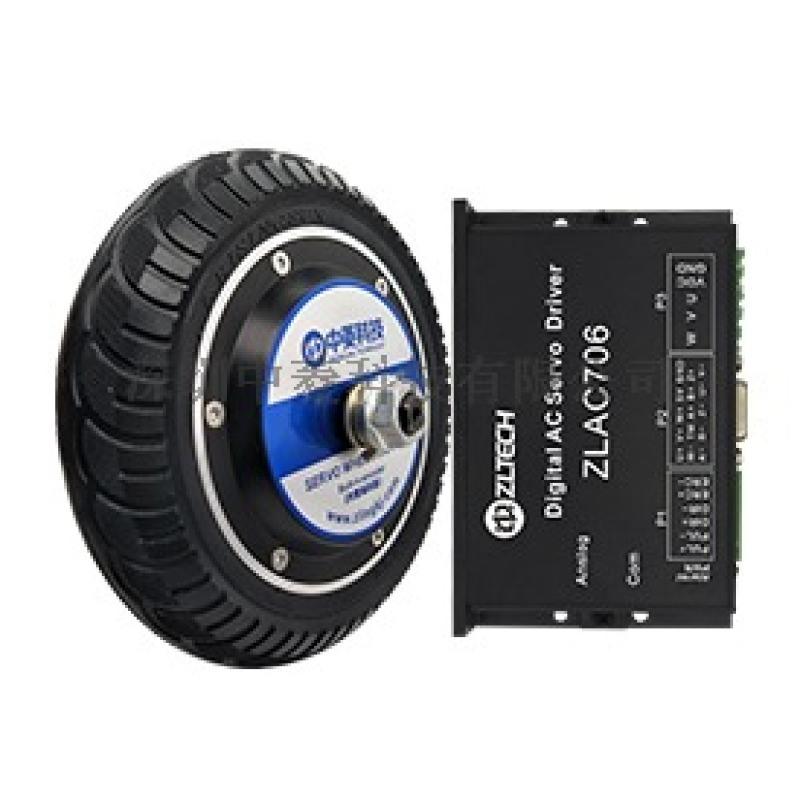 中菱科技8寸雙軸機器人輪轂伺服電機載重100KG AGV小車輪轂伺服電機
