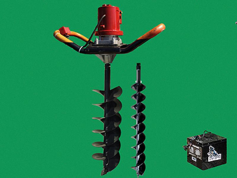 绿节牌环保节能无刷电机锂电型多功能电动地钻 钻地机 钻孔机