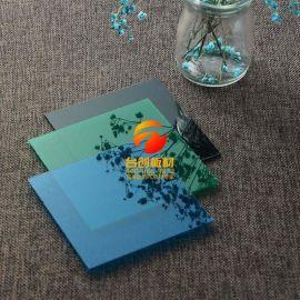 江苏4mm湖蓝耐力板雨棚制作加工