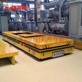 机器人应用200吨液压轨道车 钢管运输地轨车