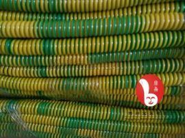 1芯黄绿接地线防静电0.75平方1.5平方2.5平方4平方弹簧电线可配鳄鱼夹静电夹