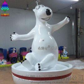 可爱卡通动物雕塑 倒霉熊贝肯熊2016新款特 玻璃钢雕塑 卡通场景