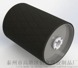滚筒冷硫化粘接包胶菱形胶板,驱动滚筒冷包胶厂家