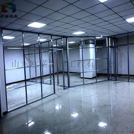 连云港办公室玻璃隔断与铝合金框架的安装