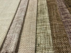竹节双色仿麻布 大肚纱仿麻沙发布 扎毛涂层装饰布73色现货供