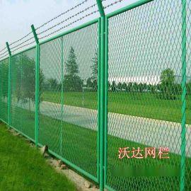 可定制绿色菱形围墙钢板网护栏 保税区耐腐蚀钢板网围栏厂家供应